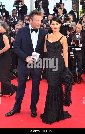 Alec Baldwin Hilaria Thomas 'Moonrise Kingdom' premiere - during Opening ceremony of 65th Cannes Film Festival Cannes - Stock Photo