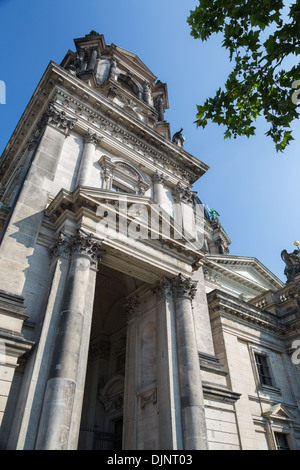 Berlin Cathedral or Berliner Dom, on Museum Island, is an Evangelical church built in 1905 by King Frederick William - Stock Photo