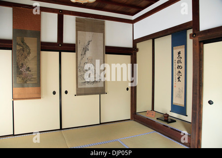 Japan, Kyoto, Daitokuji Temple, Kourin-in, interior, - Stock Photo