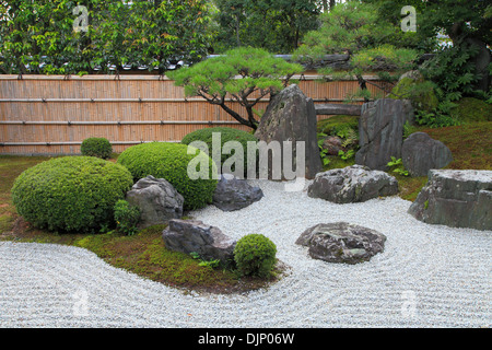 Japan, Kyoto, Daitokuji Temple, Kourin-in, garden, - Stock Photo