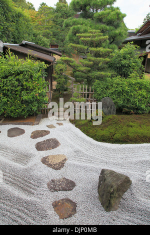 Japan, Kyoto, Daitokuji Temple, Zuiho-in, Garden of the Cross, - Stock Photo