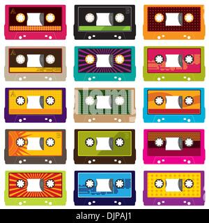 Audio cassettes isolated on white - Stock Photo