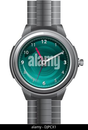 Luxury watch isolated on white - Stock Photo