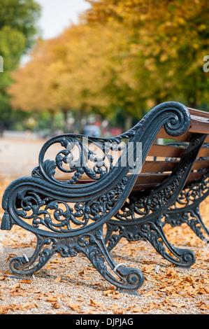 Victoria Park in autumn colours, Hackney, E9, London, United Kingdom - Stock Photo