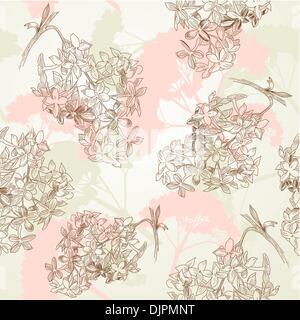 vintage floral pattern - Stock Photo