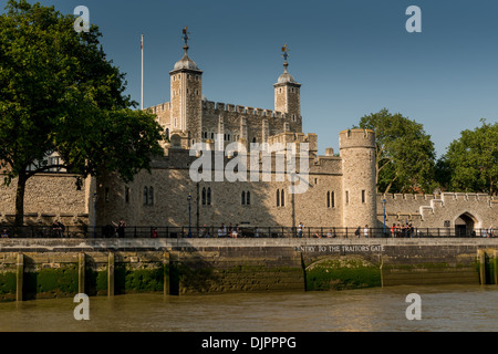 Tower of London from the River Thames - Stock Photo