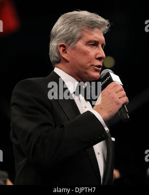 Apr 17, 2010 - Atlantic City, New Jersey, U.S. - MICHAEL BUFFER Ring Announcer utters his famous phrase 'Let's get - Stock Photo
