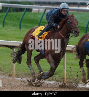 Apr. 27, 2010 - Louisville, Kentucky, U.S. - Awesome Act with Julian Laparoux up  went 4F in :48 1/5 during Derby - Stock Photo