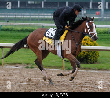 Apr. 27, 2010 - Louisville, Kentucky, U.S. - Devil May Care with  Horacio De Paz up, during Derby preparation at - Stock Photo