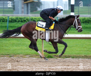 Apr. 27, 2010 - Louisville, Kentucky, U.S. - Super Saver with Kevin Willey up, during Derby preparation at Churchill - Stock Photo