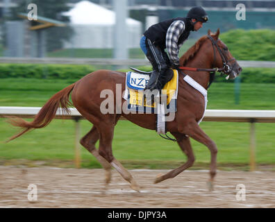 Apr. 27, 2010 - Louisville, Kentucky, U.S. - Ice Box, with Dennis Chavez up during Derby preparation at Churchill - Stock Photo