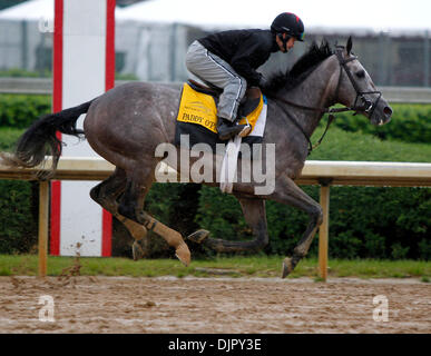 Apr. 27, 2010 - Louisville, Kentucky, U.S. - Paddy O'Prado,with Jaustino Aguilar, during Derby preparation at Churchill - Stock Photo