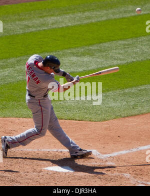 May 16, 2010 - Denver, Colorado, U.S. - MLB Baseball - Washington Nationals third baseman RYAN ZIMMERMAN hits during - Stock Photo