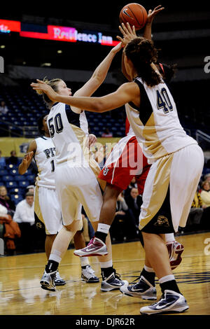 Mar. 01, 2010 - Pittsburgh, PA, U.S - 01 March 2010: University of Pittsburgh sophomore guard Kate Popovec (50) - Stock Photo
