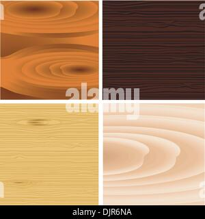 A collection of wooden background vector - Stock Photo