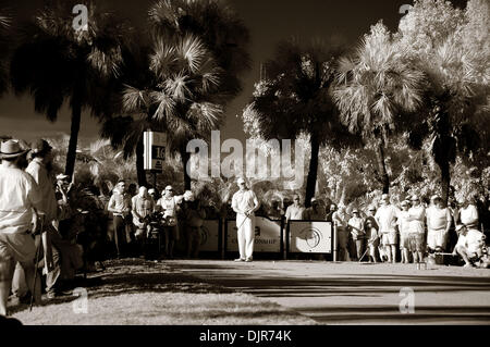 Mar. 14, 2010 - Miami, FLorida, USA - 14 March 2010: A rare infrared look at the tee on the 16th hole during  final - Stock Photo
