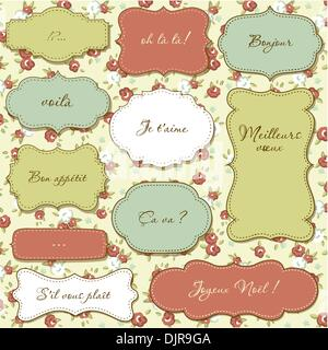 Shabby Chic Rose Damask Pattern Vector Seamless Vintage Floral