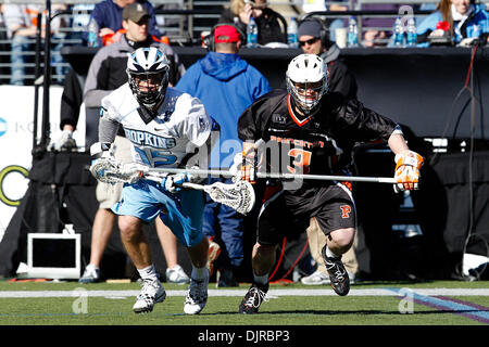 Mar. 06, 2010 - Baltimore, Maryland, U.S - 06 March 2010: action Hopkins Midfield Michael Kimmel #15 and Princeton - Stock Photo