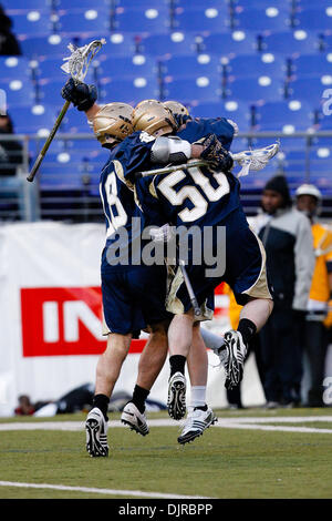 Mar. 06, 2010 - Baltimore, Maryland, U.S - 06 March 2010: Notre Dame Midfield David Earl #33 celebrates with his - Stock Photo