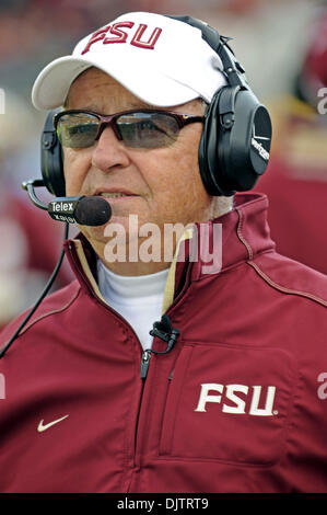 NCAA Gator Bowl - Bobby Bowden reacts to West Virginia's first score during the 2010 Gator Bowl  (Credit Image: - Stock Photo