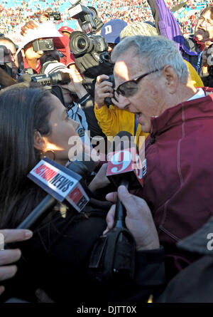 NCAA Gator Bowl - Bobby Bowden in his final post-game field TV interview following the 2010 Gator Bowl. (Credit - Stock Photo