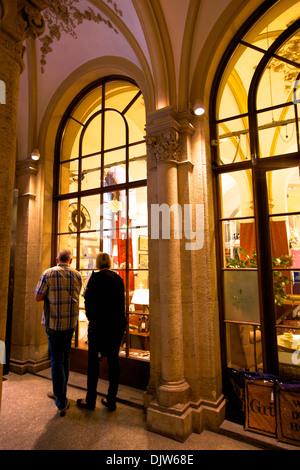 Shopping in Freyung Passage, Vienna, Austria, Central Europe - Stock Photo