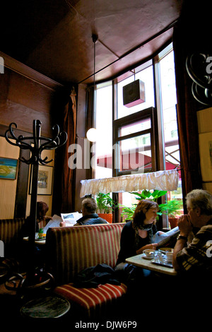 Cafe Hawelka, Vienna, Austria, Central Europe - Stock Photo