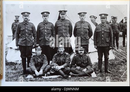 British First World War soldiers in encampment, 1st World War, 1st WW, Great War 1914-1918, history, archive archival - Stock Photo