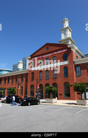 Sports Legends Museum next to Oriole Park, Camden Yards Sports Complex, Baltimore, Maryland, USA - Stock Photo