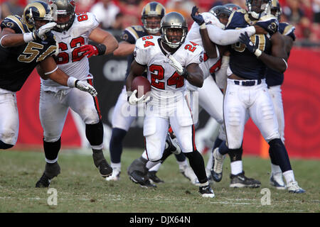 Oct. 24, 2010 - Tampa, Florida, United States of America - Tampa Bay Buccaneers running back Cadillac Williams (24) - Stock Photo