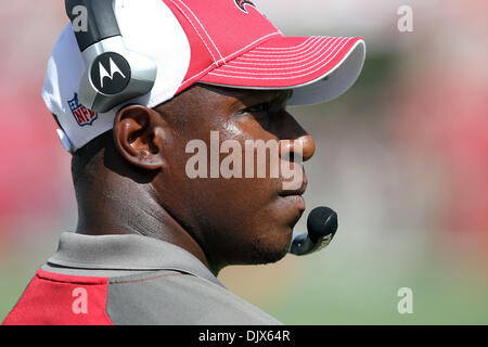 Oct. 24, 2010 - Tampa, Florida, United States of America -  Tampa Bay Buccaneers head coach Raheem Morris at Raymond - Stock Photo