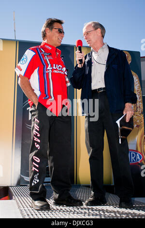 Oct. 31, 2010 - Las Vegas, Nevada, United States of America - Hector Arana being interviewed during the pre-race - Stock Photo