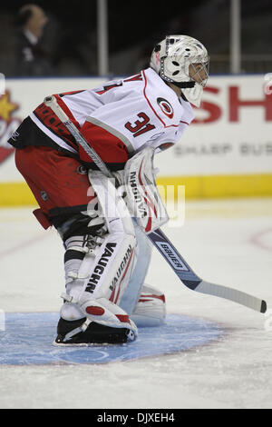 Nov. 2, 2010 - Charlotte, North Carolina, United States of America - Charlotte Checkers'  Mike Murphy #31 at the - Stock Photo