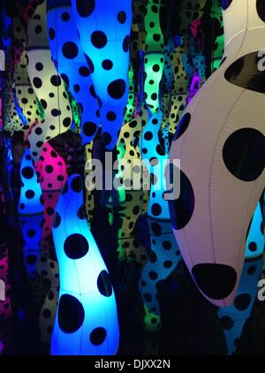 New York, NY, November 29, 2013. 'Love Is Calling,' an installation by Yayoi Kusama from her exhibition 'I Who Have - Stock Photo