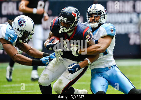 Nov. 28, 2010 - Houston, Texas, United States of America - Houston Texans running back Arian Foster (23) is brought - Stock Photo
