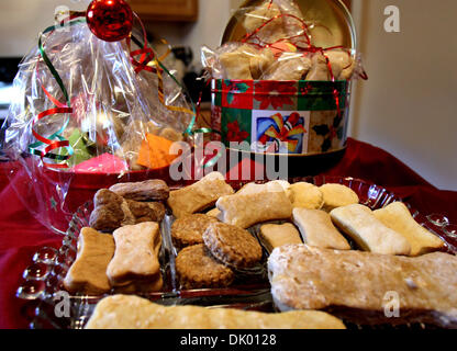 Dec. 15, 2010 - Nesbit, MS, U.S. - December 3, 2010 - After losing her job, Deborah Brown began making gourmet dog - Stock Photo