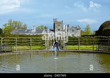 The Fountain Garden at Levens Hall, an Elizabethan house, Kendal, Lake District, Great Britain - Stock Photo