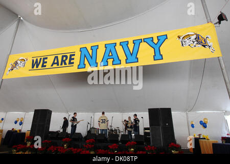 Dec. 23, 2010 - San Diego, California, U.S - A Navy football banner welcomes visitors to the 2010 San Diego County - Stock Photo