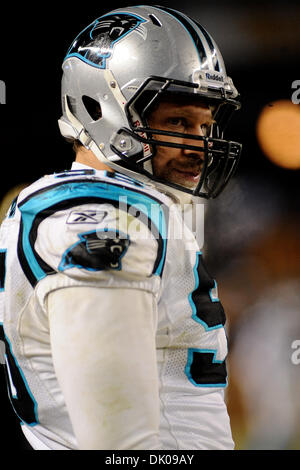 Dec. 24, 2010 - Pittsburgh, PENNSYLVANNIA, U.S - Carolina Panthers defensive end Tyler Brayton (96) stands along - Stock Photo