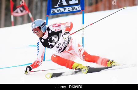 Dec. 25, 2010 - Beaver Creek, COLORADO, UNITED STATES - KALLE PALANDER of Finland during the first run in the Audi - Stock Photo