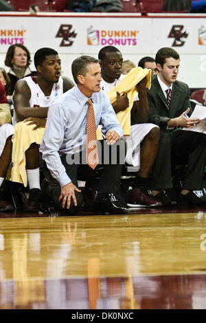 Jan. 5, 2011 - Chestnut Hill, Massachusetts, United States of America - Boston College Eagles Head Coach Steve Donahue - Stock Photo