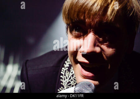 Toronto, Ontario, Canada. 30th Nov, 2013. Lead singer of Swedish rock band 'The Hives' HOWLIN' PELLE ALMQVIST performs - Stock Photo