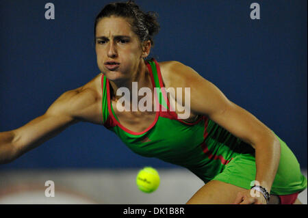 Jan. 19, 2011 - Melbourne, Victoria, Australia - Andrea Petkovic (GER) in action during her second round match against - Stock Photo