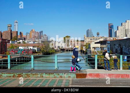 Gowanus Canal Brooklyn New York - Stock Photo