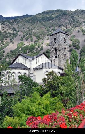 Sant Esteve church in Andorra - Stock Photo