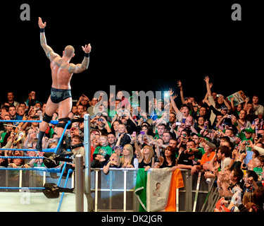 Randy Orton WWE Smack Down at the O2 Arena Dublin, Ireland - 12.04.12. - Stock Photo
