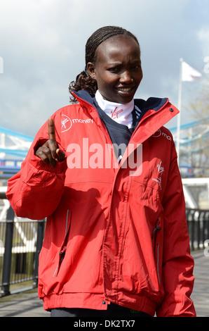 Mary Keitany (Kenya - Virgin London Marathon Womens Champion 2011) Virgin London Marathon Returning Champions Photocall - Stock Photo