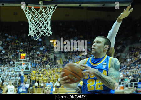 Feb. 20, 2011 - Berkeley, California, U.S - UCLA Bruins forward Reeves Nelson (22) eyes a shot during the NCAA basketball game between the UCLA Bruins and the California Golden Bears at Haas Pavilion.  Cal held off UCLA 76-72 in overtime. (Credit Image: © Matt Cohen/Southcreek Global/ZUMAPRESS.com)