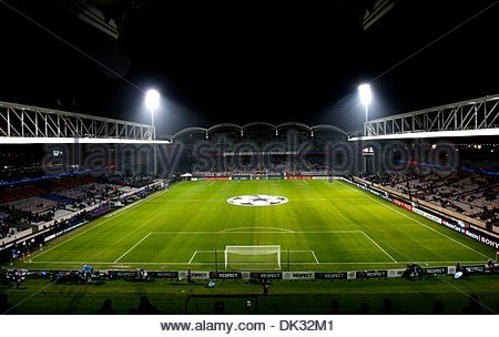 General view of Stade de Gerland..UEFA Champions League 1st Leg last 16..Olympique Lyonnais v Real Madrid..22nd - Stock Photo