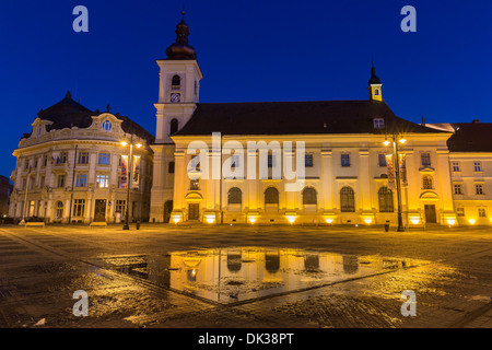 Main square, Sibiu Romania - Stock Photo